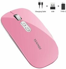 Wireless Mouse, Adjustable DPI Levels, Ultra Slim, Rechargeable