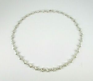 """Tiffany & Co. Star Link Polished 925 Sterling Silver Collar Style Necklace 16"""""""