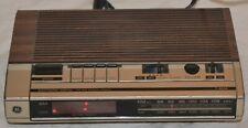 GE 7-4634BFM/AM Electronic Digital Alarm Clock Radio Woodgrain