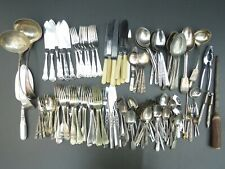 More details for vintage mixed job lot of 6 kg of cutlery spoons knives forks some silver plated