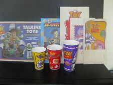 "Disney Toy Story ""Unused Cups, Bags, Place-Mat & BK Adventures"" Burger King 1996"
