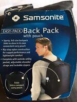 Samsonite Folded Backpack Black For Travel New 86550-1041