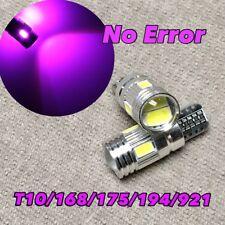 Reverse Backup Light T10 6 SMD LED 921 194 2825 168 12961 W5W Purple W1 JA