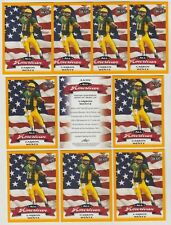 (5)Mint 2016 Leaf GOLD Parallel CARSON WENTZ All-American Rookie Card lot Eagles