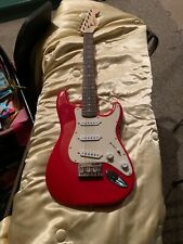 Fender Player Stratocaster Red Squire SSS Electric Guitar - Sonic Red Body,