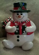 Fitz and Floyd Holiday Snowman lidded box Nib