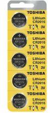 5 New Original Toshiba CR2016 CR 2016 3V LITHIUM BATTERY BR2016 DL2016 Watch