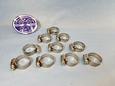"""NEW WORM-DRIVE 10 PK HOSE CLAMP 5/8""""- 1 1/4"""" STAINLESS STEEL CLAMP AND SCREW."""
