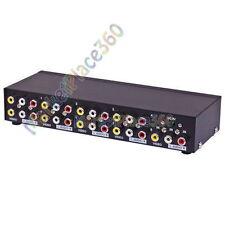 AV Splitter 8 Port Composite Video Audio 3 RCA Splitter Mirror Screen Box