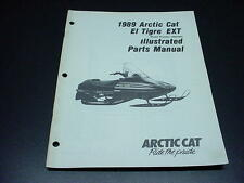 Arctic Cat 1989 Parts Manual El Tigre EXT Snowmobile OEM #187