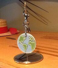 🎁Coach Original Leather Globe Keyring/Bag Charm