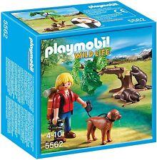 Playmobil Wild Life 5562 Biberbaum mit Naturforscher Beavers with Backpacker