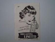 advertising Pubblicità 1951 BRILLANTINA LINETTI