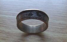 1937 GERMAN .650 SILVER REICHMARKS SILVER-COIN RING- Size 9 as shown.