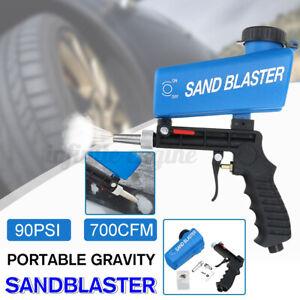 90PSI 700CFM Portable Gravity Sandblasting Gun Tool Pneumatic Sand Blasting Tool