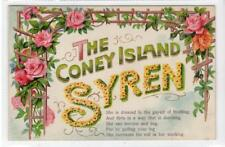 THE CONEY ISLAND SYREN: USA Comic postcard (C35742)