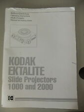 Instructions slide projector KODAK EKTALITE 1000 & 2000 GB/English  CD/EMail
