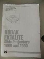 Instructions slide projector KODAK EKTALITE 1000 & 2000 GB/English  CD/EMail