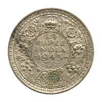 KM# 547 - 1/4 Rupee - Quarter - George VI - India 1945B (VF)