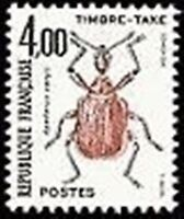 "FRANCE STAMP TIMBRE TAXE N° 108 "" INSECTES , COLEOPTERES 4F"" NEUF xx TTB"
