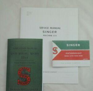 Late Singer Featherweight 221 Sewing Machine Dealer Adjusters Repair Manuals Set