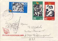 Ersttagsbrief DDR MiNr. 2699-2701, Kongress des Freien Deutschen Gewerkschaftsbu