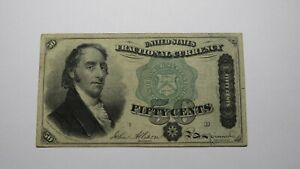 1874 $.50 Fourth Issue Fractional Currency Obsolete Bank Note Bill! 4th VF RARE