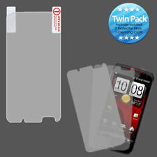 2x LCD Screen Cover Protector Film with Cloth Wipe for HTC Incredible 4G LTE