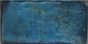 "Blaue spanische Wandfliese ""Catania Azul"", 15x30 cm, edle Farben und Muster"