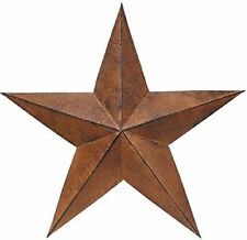 "18"" Rust over Black Barn Star--Made of Metal-Loop Hook on Back for Hanging"