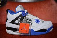 Nike Air Jordan 4 IV Retro Motorsport White Black Blue 308497-117 Mens Size 9.5