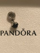 Genuine Pandora Silver and Onyx Dangle Drop Charm 790379O