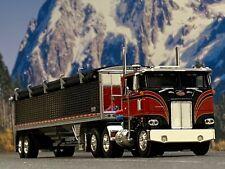 1/64 DCP RED/BLACK 352 PETERBILT W/ WILSON GRAIN TRAILER