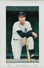 RARE Joe DiMaggio 23x35 Lithograph Artist Proof Armand LaMontagne SIGNED YANKEES