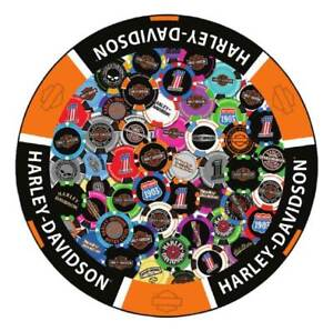 Harley-Davidson® Poker Chip Graphic Round Puzzle - 1000 Pieces, 26.5 Inches
