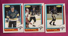 1986-87 OPC BLUES RAMAGE + SUTTER + FEDERKO   CARD (INV# 9974)