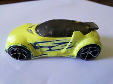 Hot Wheels High Voltage Race Car Yellow With Blue Logo Silver Trim
