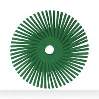 "3M 6/"" Green Radial Bristle Brush 50 Grade//Grain 27605 50X T-A 4*B-98.5"