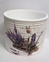 Lavendel Keramik Herbst Übertopf / Pflanztopf Topf Blume Deko vintage Landhaus