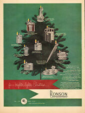 1951 vintage Christmas AD RONSON Cigarette Lighters Tree Ornaments 111116