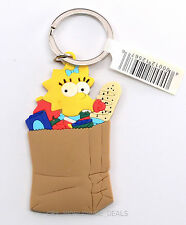 NEW Universal Studios The Simpsons - Maggie In a Bag of Groceries Keychain 2.75""
