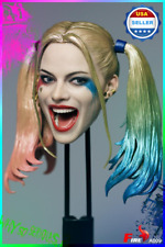 IN STOCK 1/6 scale Suicide Squad Harley Quinn Head Sculpt for 12'' female figure
