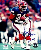 Thurman Thomas autographed signed inscribed 8x10 photo Buffalo Bills PSA COA MVP