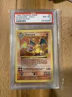 1999 Base Set Holo Charizard 4/102 SHADOWLESS Pokemon Card - PSA 8 Mint