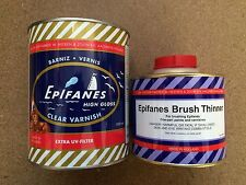 Epifanes Extra UV High Gloss Clear Boat Varnish 1000ml & Thinners 500ml CV.1