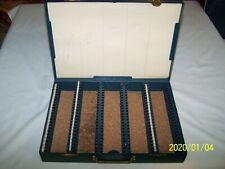 VINTAGE SLIDE FILE BOX ~METAL ~ 120 SLOT SLIDE STORAGE ~ MURA TRADING CO.
