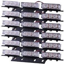 54 LED Emergency Warning Strobe Lights Bars for Deck Dash Grille WHITE & AMBER