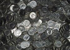 1 Roll (50) XF/AU/UNC Mercury Dimes - Mixed Dates/Mints 1940's 90% Silver Coins