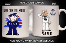 Personalised Mug NAVY SAILOR SEAMAN Ceramic Cup Gift Him Dad Grandad Fathers