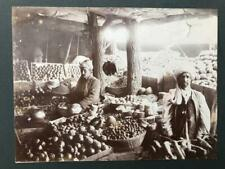 More details for 4 original 1920s british indian army photos soldiers quetta fruit stall pakistan